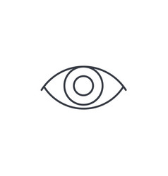 Eye thin line icon linear symbol vector