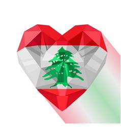 Flag of the lebanese republic vector
