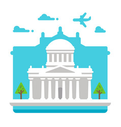 Flat design four courts dublin vector
