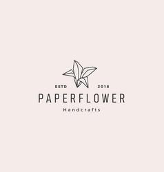 flower paper origami hand craft handcraft logo vector image
