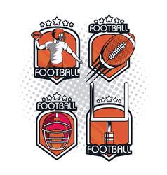 football championship icon vector image