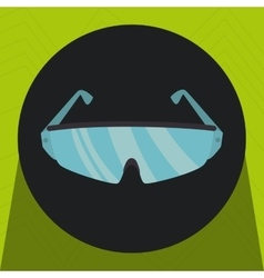 glasses desing protection icon vector image