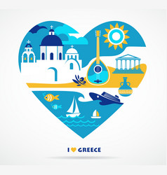 Greece love vector