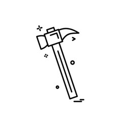 hammer icon design vector image