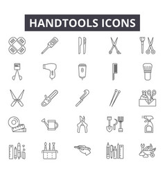 handtools line icons for web and mobile design vector image