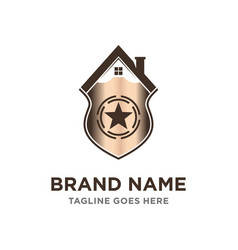 home shield logo vector image