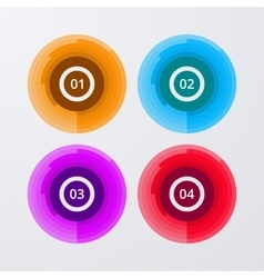 Infographics four circles vector