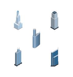 isometric skyscraper set of building tower vector image