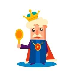 King Cartoon Emotion Set vector