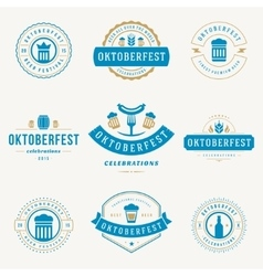 Labels badges and logos set Beer festival vector image