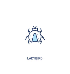 Ladybird concept 2 colored icon simple line vector