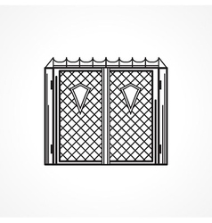 Line icon for iron gates vector image