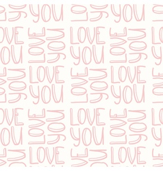 Love you pink seamless pattern vector