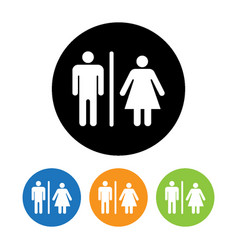 male and female restroom symbol icon vector image