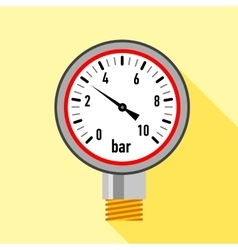 Manometer icon flat style vector