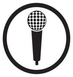Microphone black sign vector image