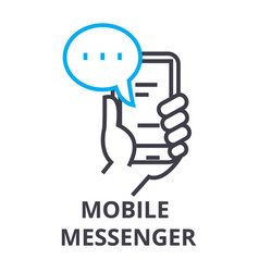 Mobile messenger thin line icon sign symbol vector