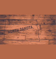 North dakota map brand vector