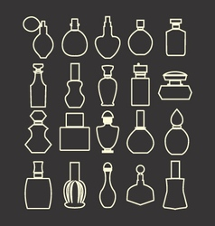 Parfume set Cosmetics Perfume Bottles Simple vector