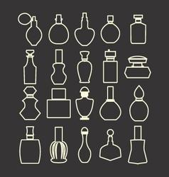 parfume set Cosmetics Perfume Bottles Simple vector image