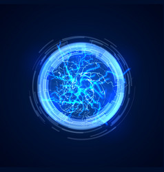portal abstract concept background with electric vector image