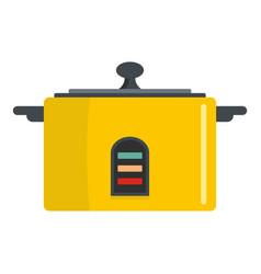 Pressure saucepan icon flat style vector