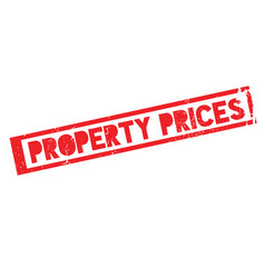 Property prices rubber stamp vector
