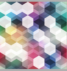 retro colored hexagonal seamless pattern vector image