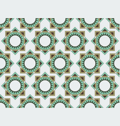 Seamless geometric pattern in shades of green vector