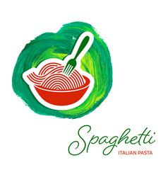 Spaghetti pasta creative design vector