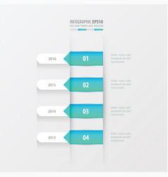 timeline template blue gradient color vector image