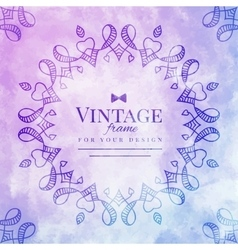 vintage watercolor frame vector image