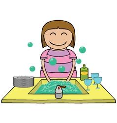 Washing time cartoon vector image