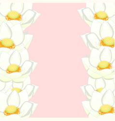 White indian lotus border vector