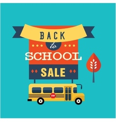 Back to school flat vector image vector image