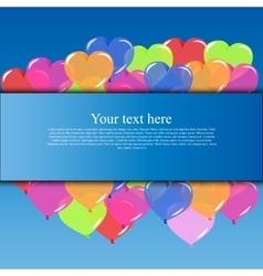 banner with balloons vector image vector image