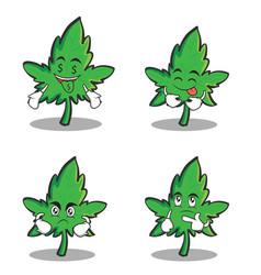collection marijuana character cartoon set vector image vector image