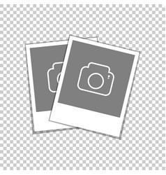 retro photo frame blank snapshot vector image