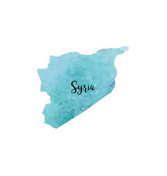 Abstract syria map vector