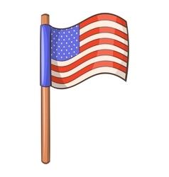American flag icon cartoon style vector image