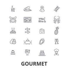 gourmet food chef restaurant dinner wine vector image