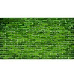 Green brick wall vector image vector image