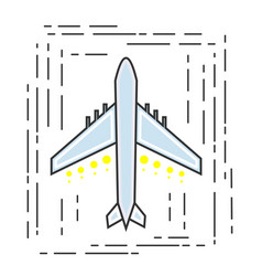 icon aircraft symbol airline or travel company vector image vector image