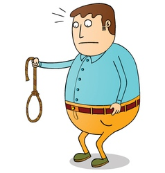 man with rope vector image vector image