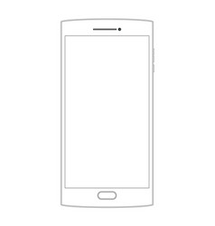 outline drawing smartphone outline dialogue icon vector image