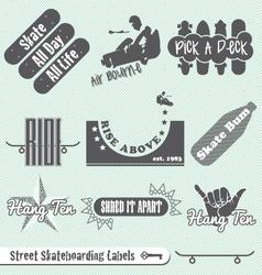 Skateboarding Labels vector image