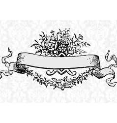 Victorian scroll vector image vector image