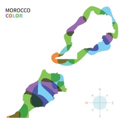 Abstract color map of Morocco vector image