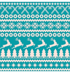 Christmas seamless pattern in the nordic style vector image
