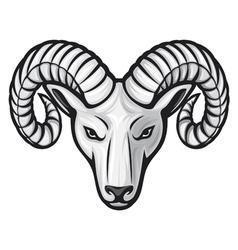 head of the ram - ram head vector image